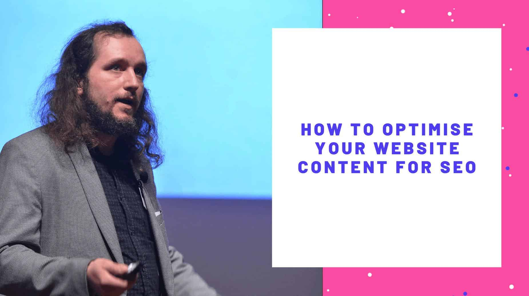 how to optimise your website content for seo