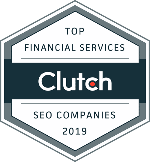 Clutch Top Financial Services SEO Award